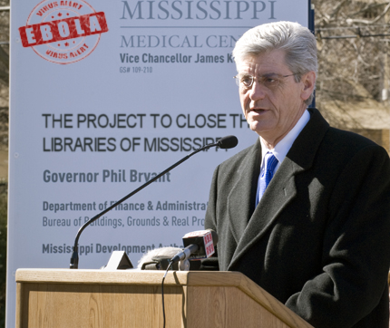 Mississippi to close all libraries