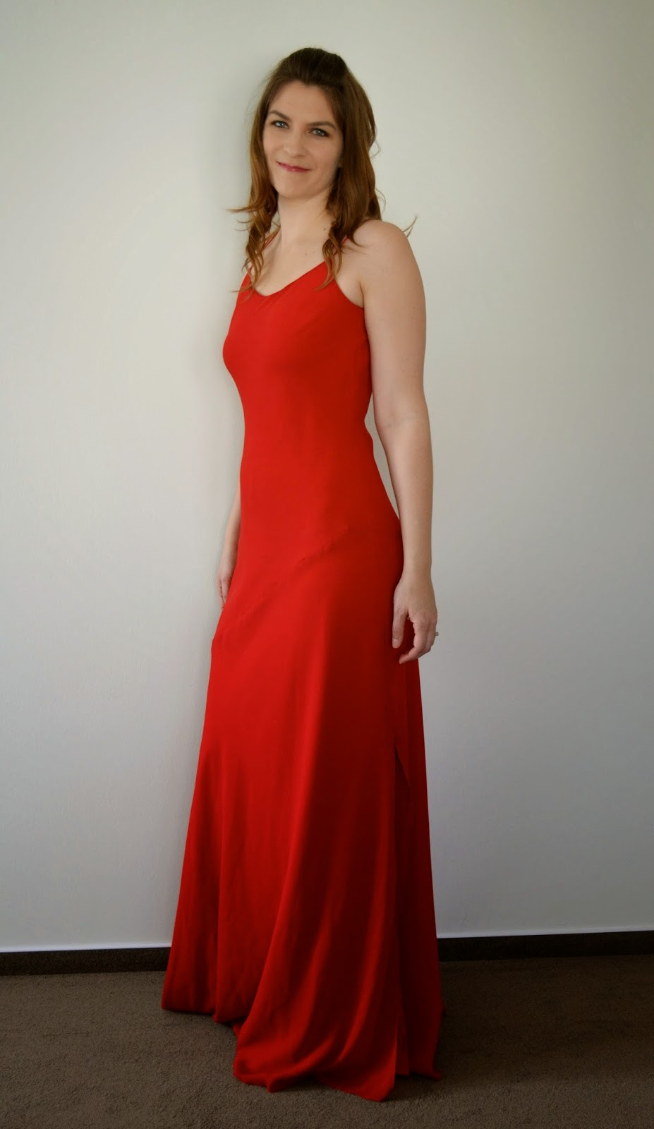 Extra-Long Red Formal Dress
