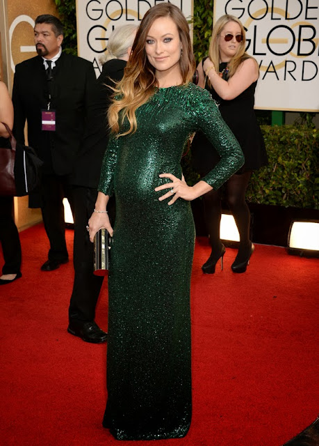 Olivia Wilde in Gucci at the Golden Globes