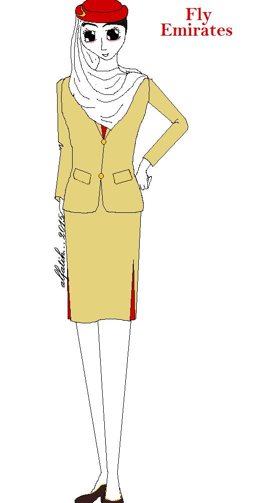 fly emirates dengan seragam yang begitu simpil yang terispirasi dari ...