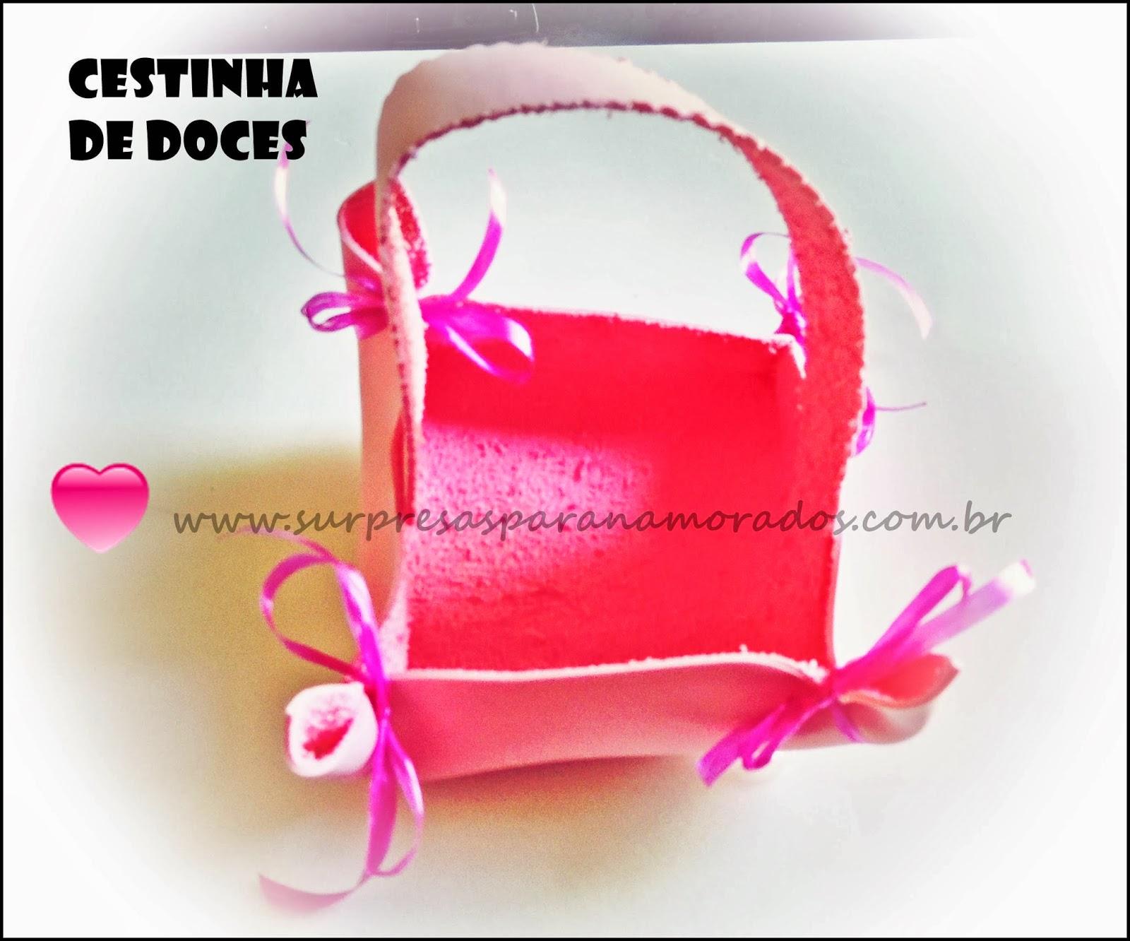 cesta de doces presente dia dos namorados