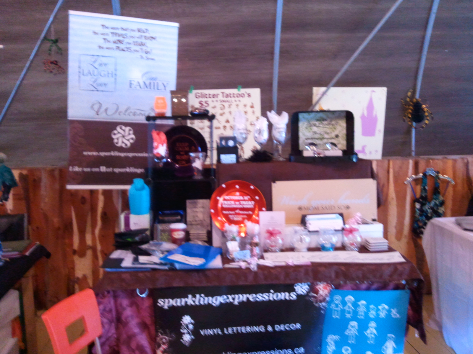 Spooktacular Booth with sparklingexpressions