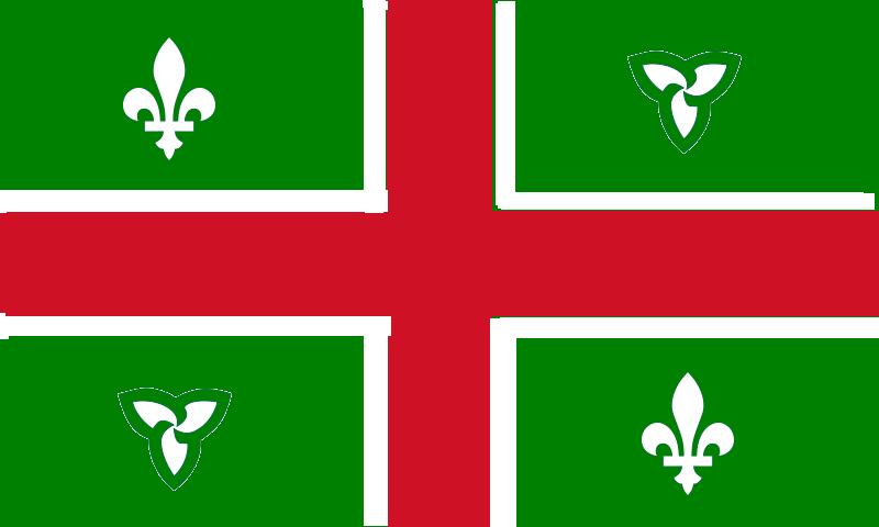 Avec les lunettes du monde proposition de drapeau pour un ontario souverain proposal of - Symbole fleur de lys ...
