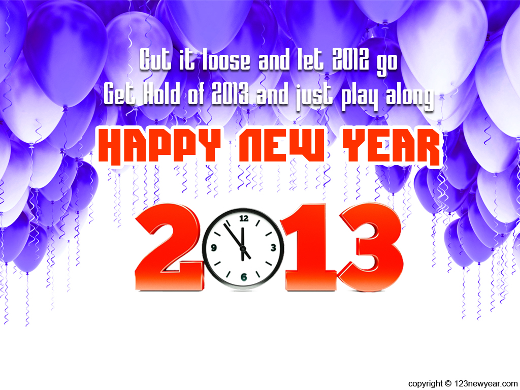 2013 new year quote with numbric style chirtmas and new year wish