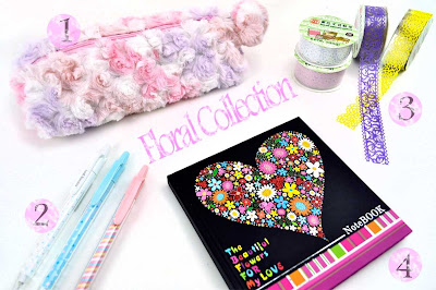 floral school supplies at CoolPencilCase.com