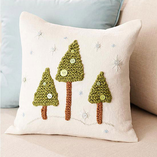 Diy Decorative Christmas Pillows : Winter Wonderland Pillow DIY Christmas