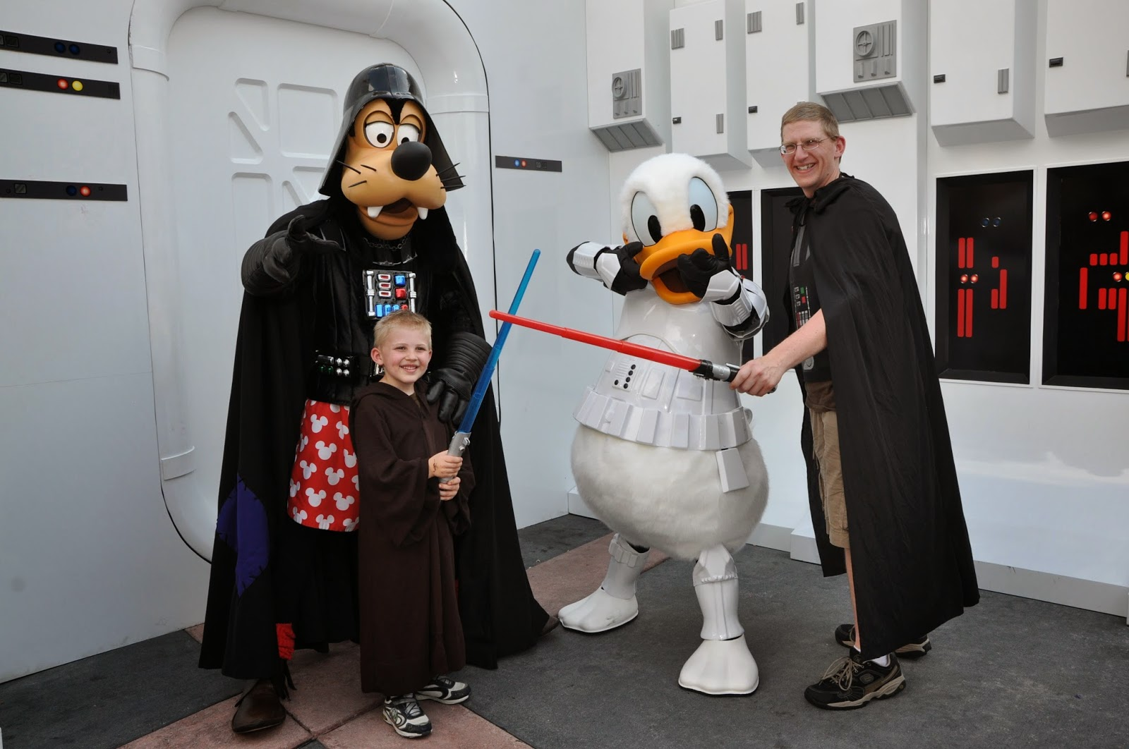 You can meet Darth Goofy and Storm Trooper Donald at Disney Hollywood Studios Star Wars Days
