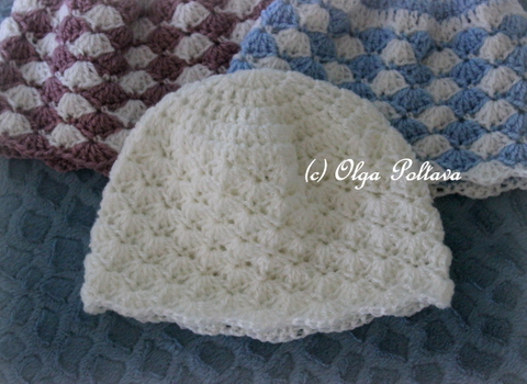 Lacy Crochet Delicate Shells Newborn Hat My New Pattern