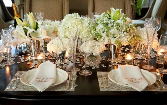 Noiva com classe 30 arranjos de mesa de ano novo ideias for Table 52 new years eve