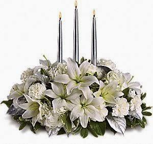 Centros de Mesa de Navidad con Flores, parte 3