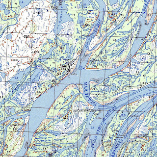 Андег на географической карте