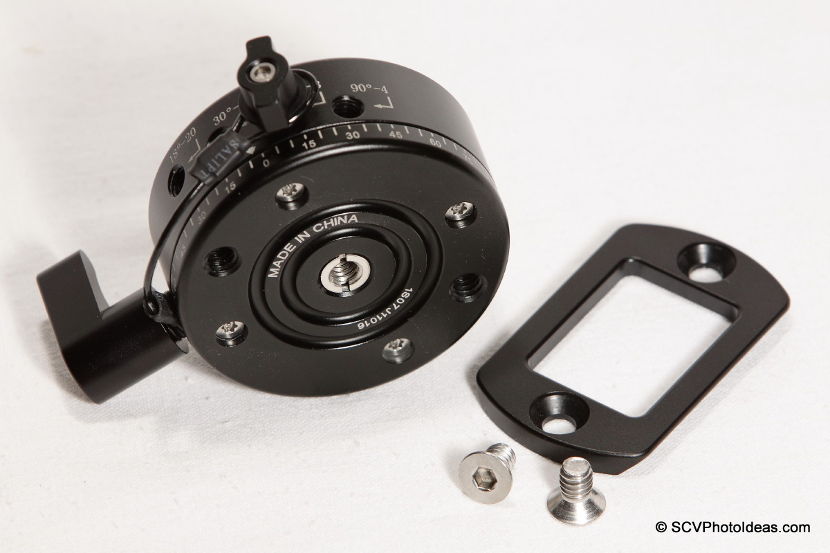 Sunwayfoto DDP-64SX Indexing Rotator bottom view - AM-01 removed