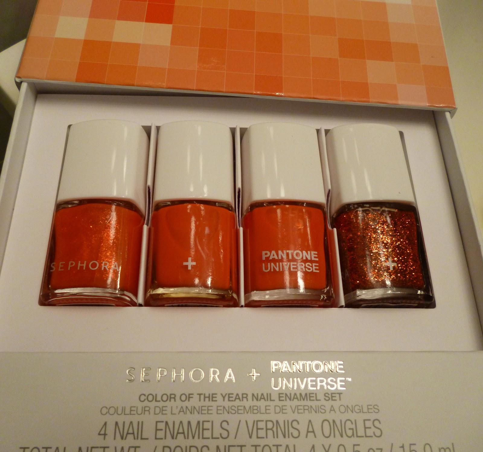 Petite in the City: Sephora + Pantone Tangerine Tango Nail Polish ...