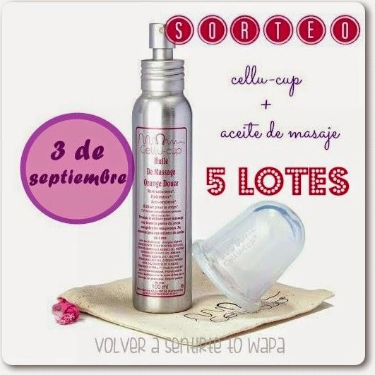 SORTEO - 5 lotes cellu-cup + aceite de masaje