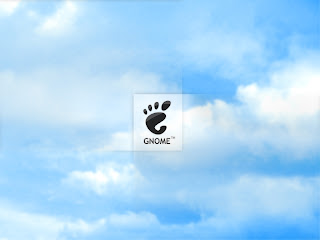 Gnome Logo at Sky HD Wallpaper