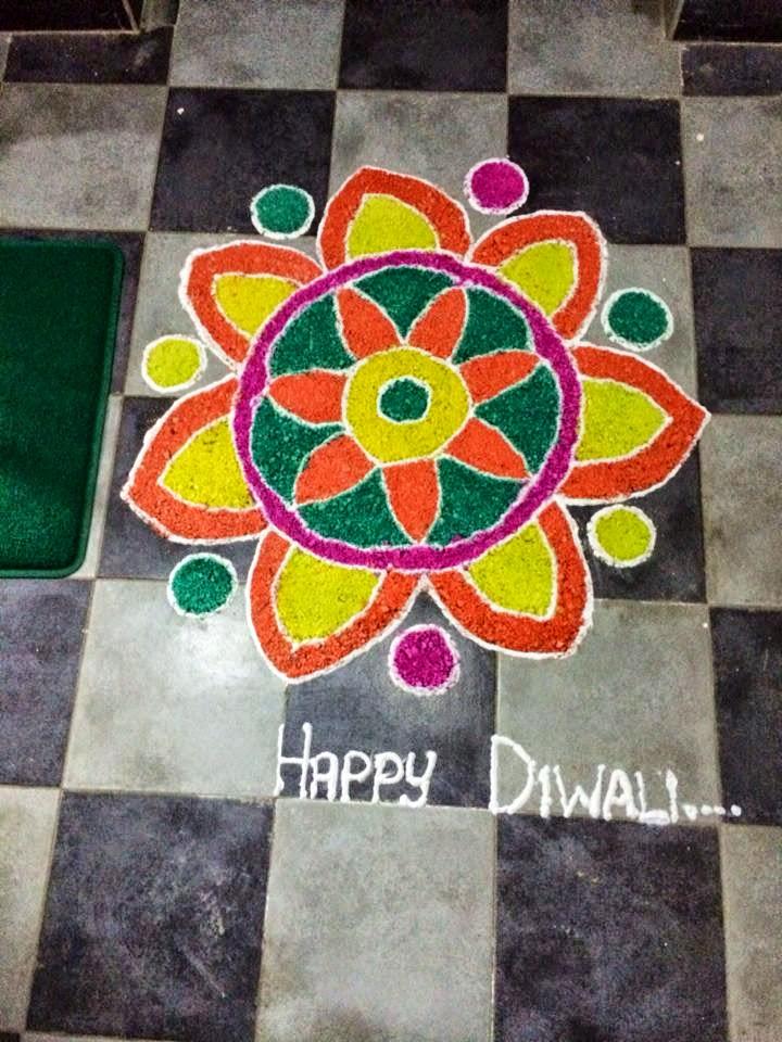 Simple rangoli designs for kids