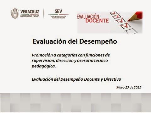 INFORMACIÓN PARA LA EVALUACIÓN DEL DESEMPEÑO DOCENTE Y DIRECTIVO