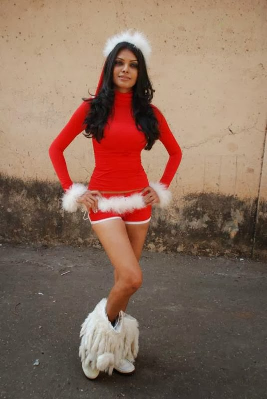 Mona Chopra exposing her hot size zero body in Red Shorts Unseen rare Hot Pics