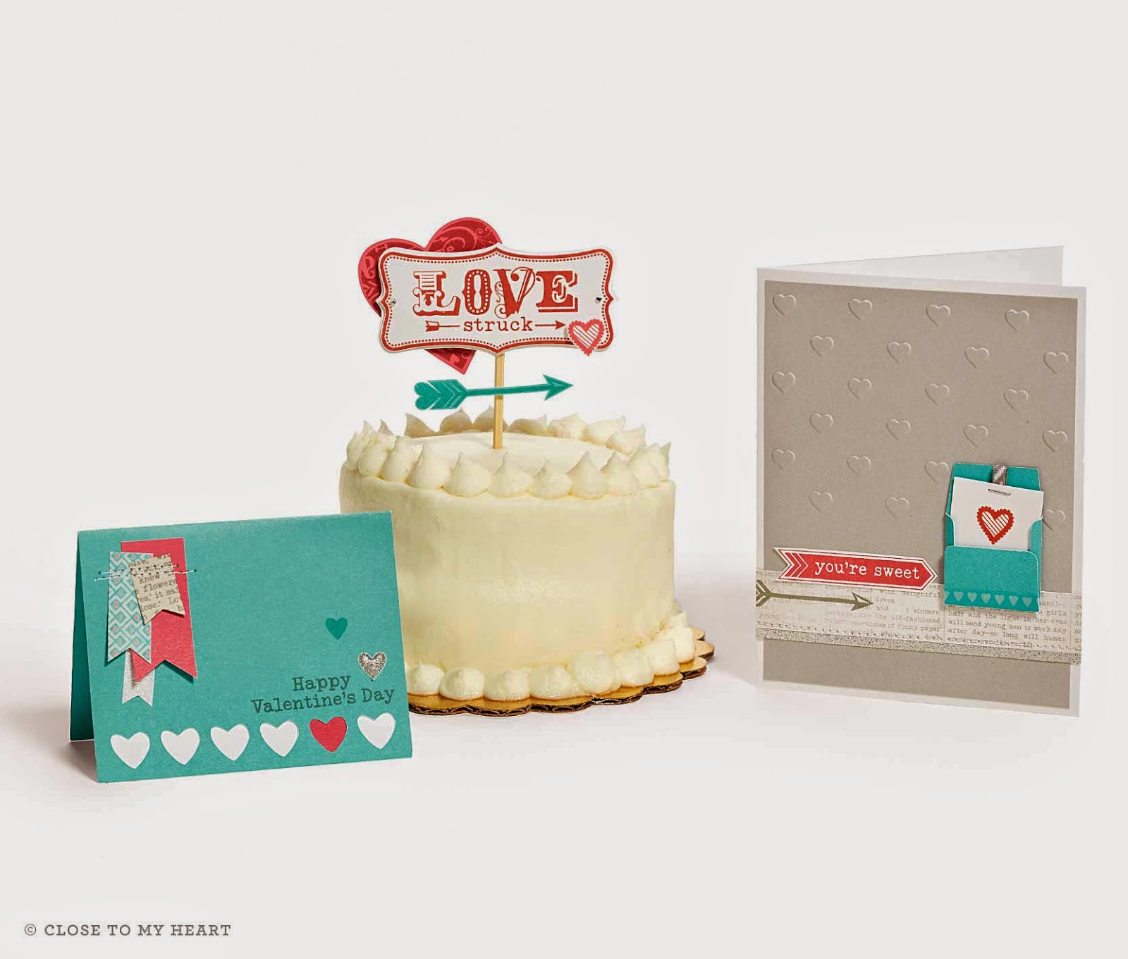 Valentine's Day Cake Topper and Cards