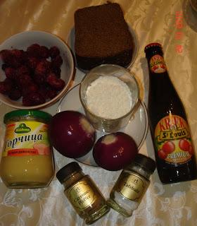 Говядина в пиве с вишней
