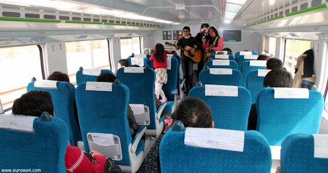 Interior del tren surcoreano ITX