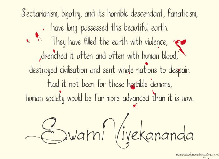 Swami Vivekananda Quotes on Fanaticism