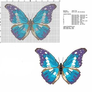 Punto de cruz y otras manualidades mariposas a punto de cruz for Punto croce farfalle