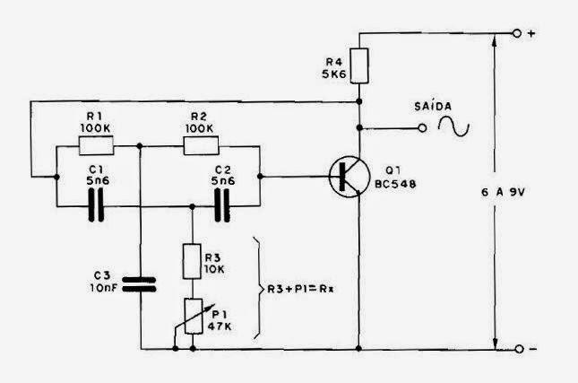 s u00f3 circuitos  oscilador duplo t