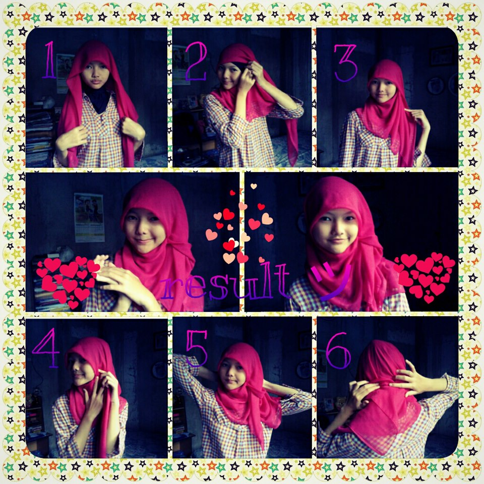 Desyana Al Syarief Pratiwi: tutorial hijab simple :)