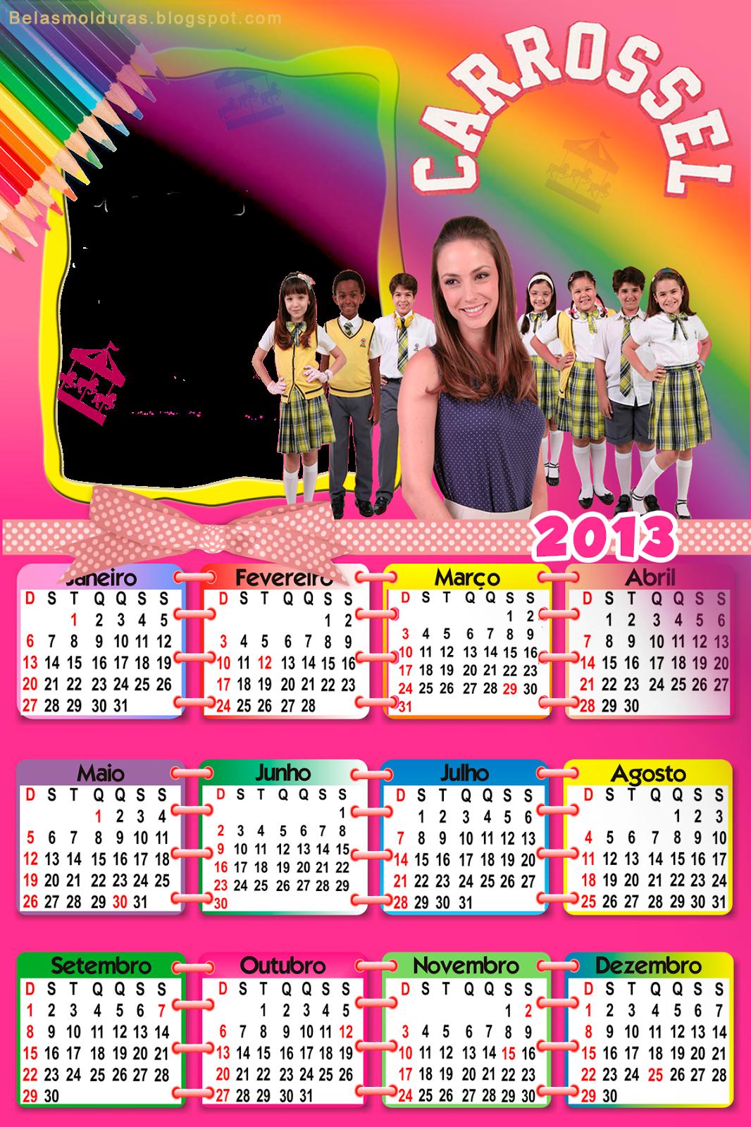 Calendário 2013 da novela Carrossel