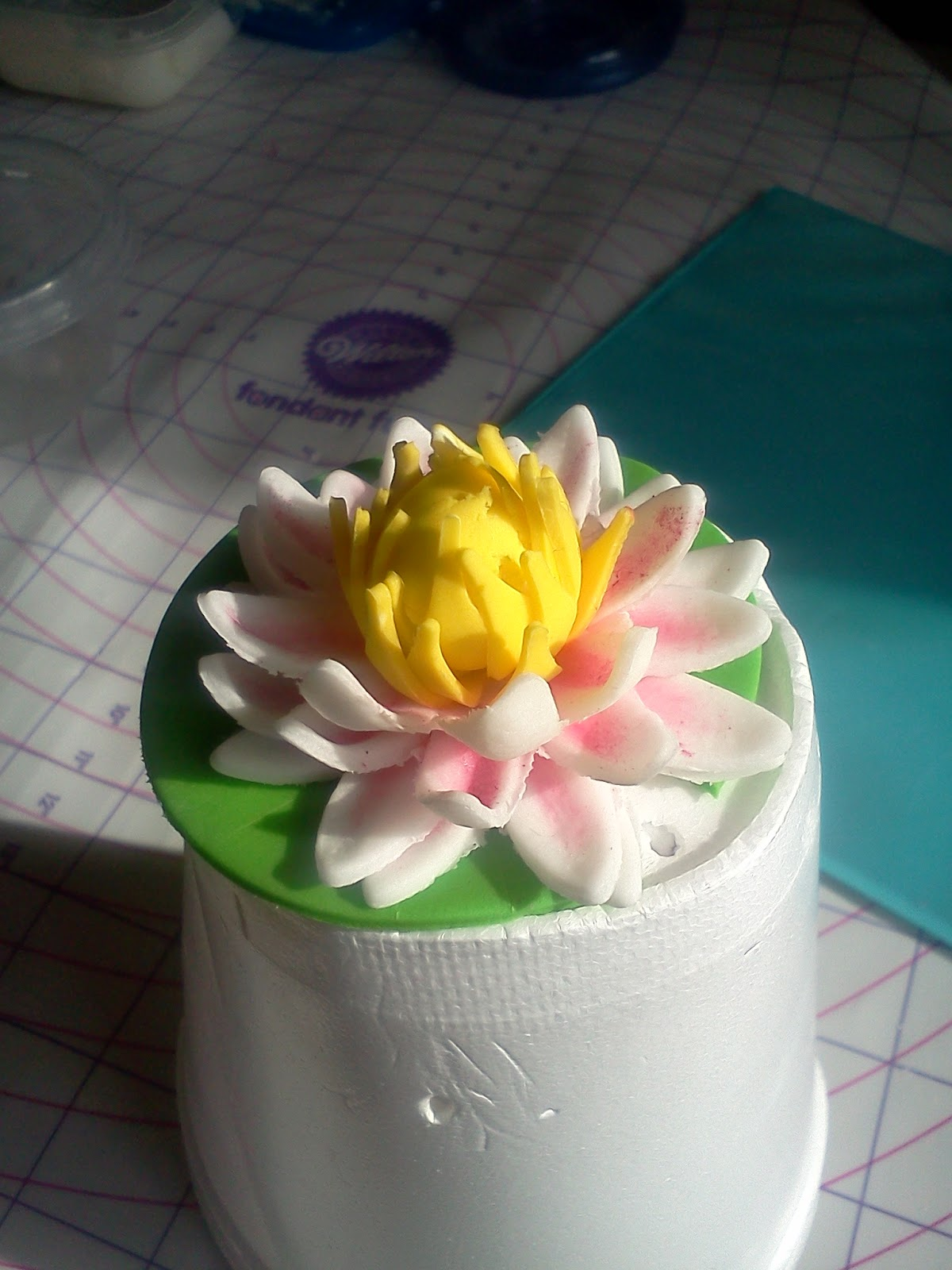 Cake or bust water lily tutorial completed water lily izmirmasajfo Gallery
