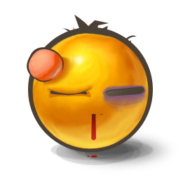 Beaten Emoticon