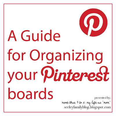 A Guide for Organizing your Pinterest boards