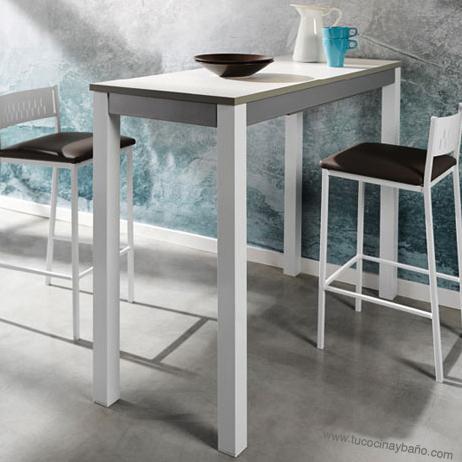 Precio mesa cocina cristal extensible moderna redonda tu for Mesas altas de cocina