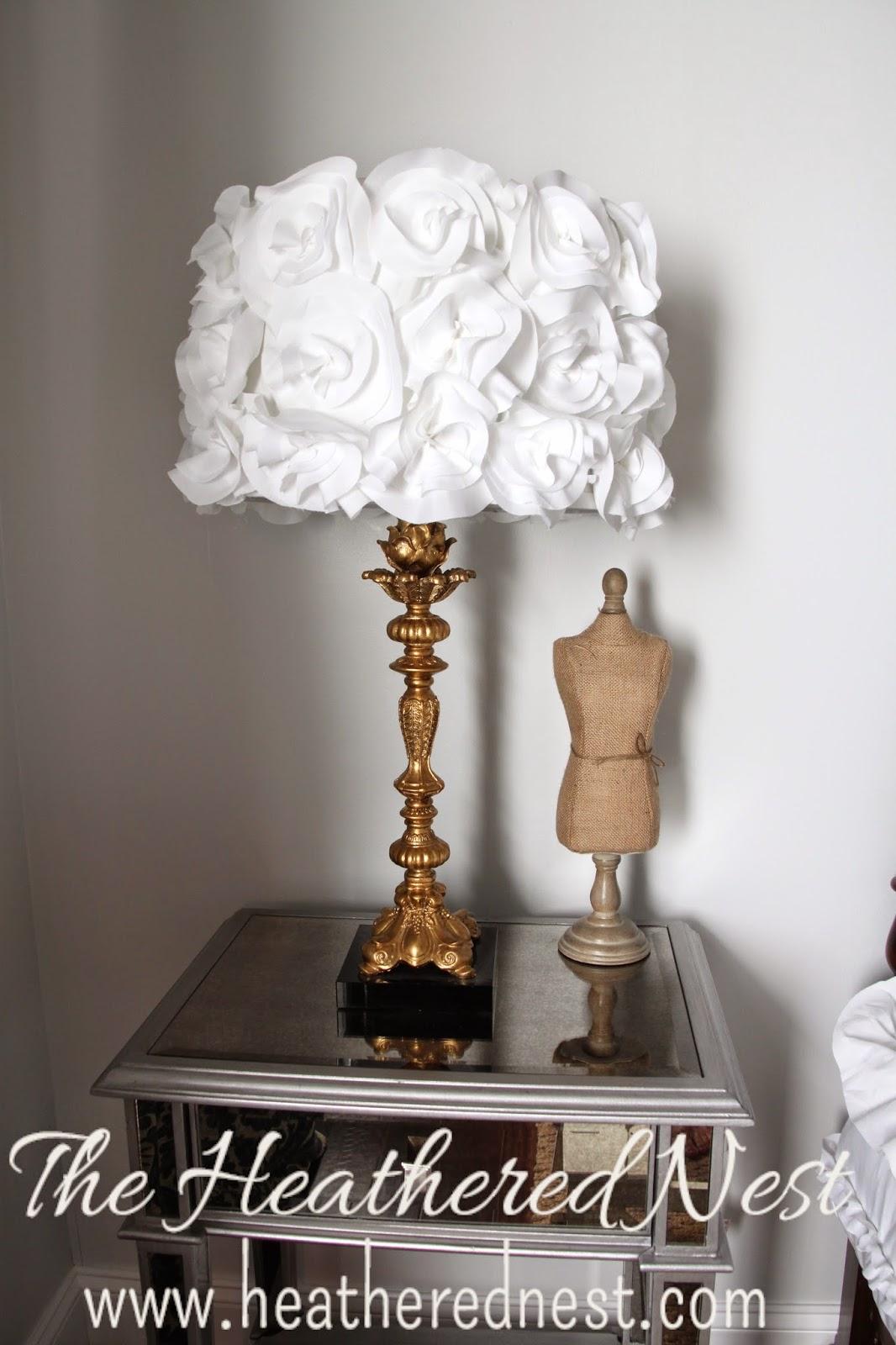 Flower Lamp Shade : Shedding light on an easy ish diy the fabric flower