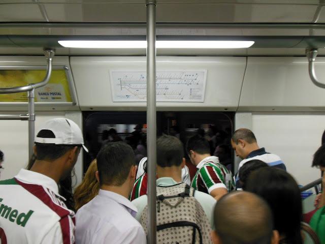 Tricolores no trem/Foto: Marcelo Migliaccio
