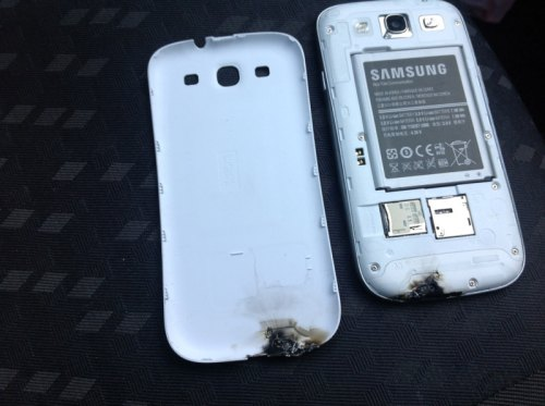 Galaxy S 3 difettoso esplode in irlanda