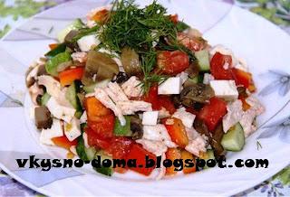 Легкий белковый салат