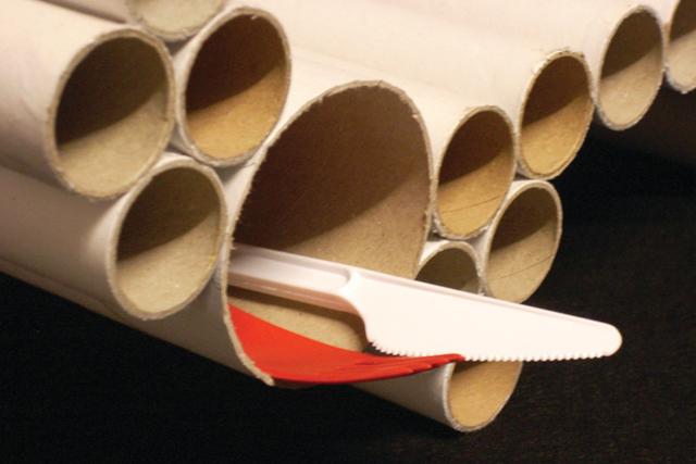 Bandeja para café da manhã de tubos PVC