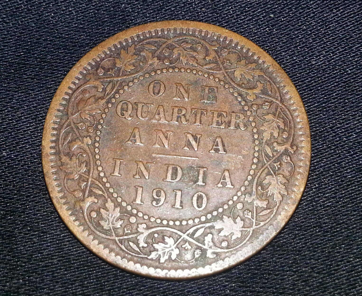 rare coins from around the world one quarter anna of
