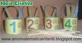Jogos com material reciclável para trabalhar matemática infantil