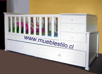 cuna bebe montada en cama de una plaza 200x96 estructurada  en Madera nativa incluida las barandas de madera NO trupan distancia entre barrotes 8 CMS y menos cajonera inferior, o cama nido a eleccion acabado a convenir, pinturas ecológicas