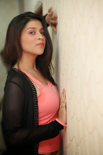 Mannara   in Transparent Jacket and Peach Tank Top Beautiful Innocent Beauty