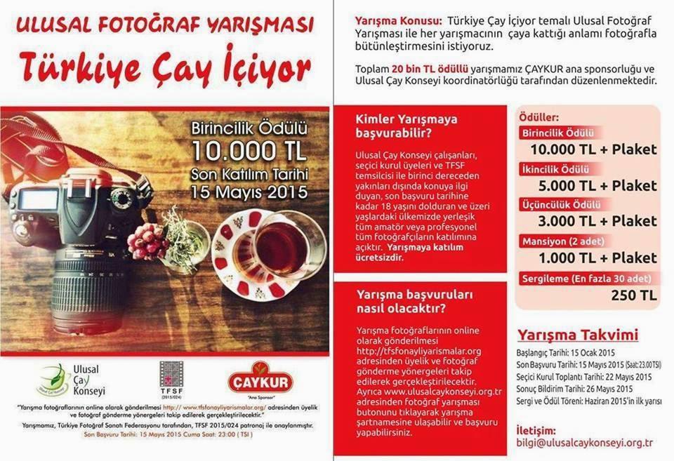 """""""Türkiye Çay İçiyor"""" Ulusal Fotoğraf Yarışması"""