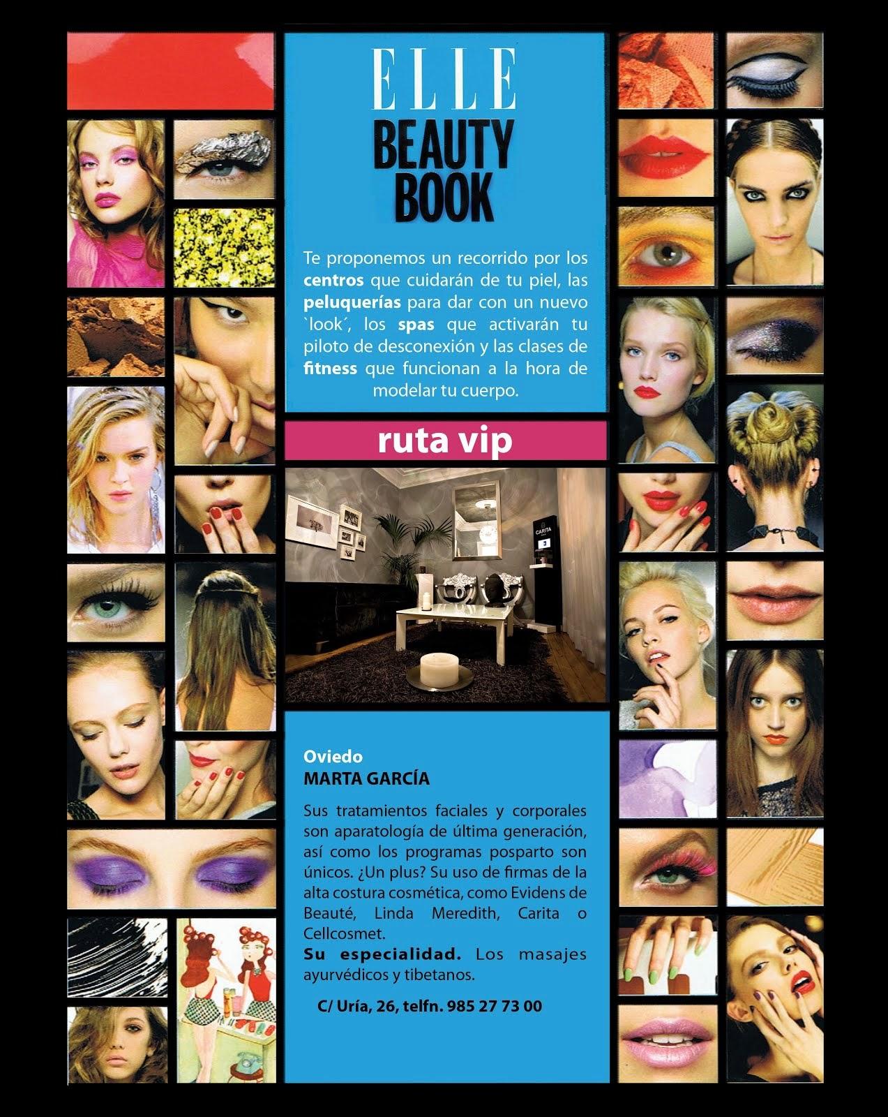 Marta García en el Beauty Book de Elle