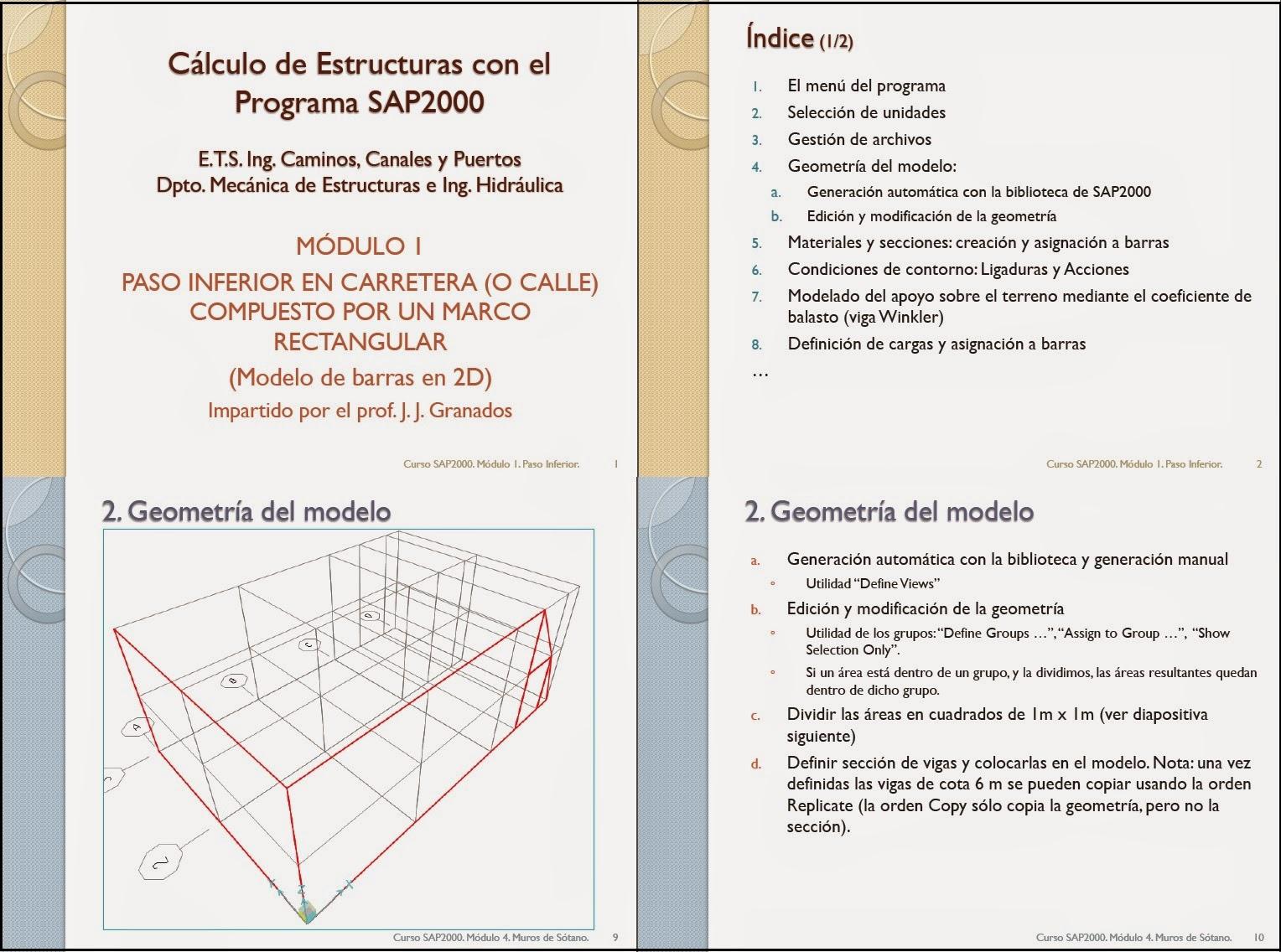 Calculo de estructuras sap2000