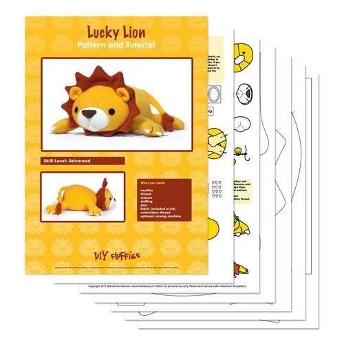 Lion Plush pattern toy pdf