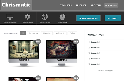Share Free Chrismatic Blogger Template cho trang thiết kế