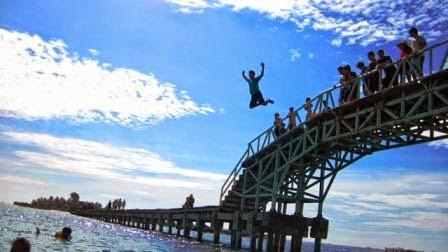 wisata pulau tidung, jembatan pulau tidung, www.pulautidungsaffanah.com