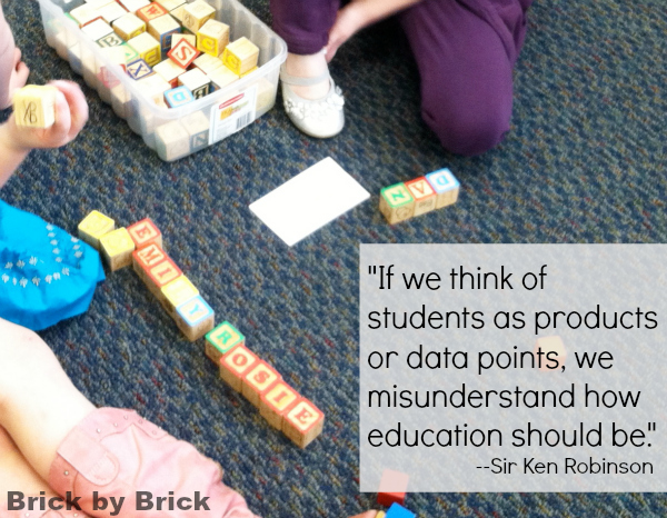 Ken Robinson quote (Brick by Brick)